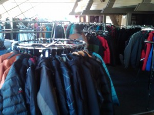 Winter Jackets at Buck Hill Tent Sale