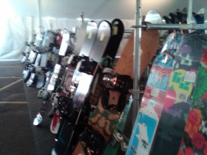 New and Used Snowboards at Buck Hill Tent Sale