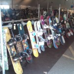 Snowboards at Buck Hill Tent sale